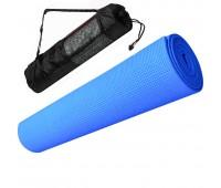 Коврик для йоги ПВХ 173х61х0,4см с чехлом