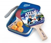 Набор для н/т Atemi DUET (2 ракетки+чехол+3 мяча)