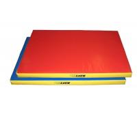 гп021003 Мат гимнастический 1,2*0,8*0,08м трехцветный