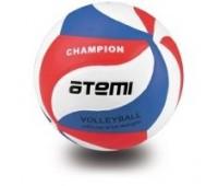 Мяч волейбольный Atemi CHAMPION синтетическая кожа PU Soft, син/бел/красн