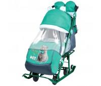 Санки-коляска детские Ника Детям 7-2 + выдвижные КОЛЕСА