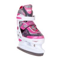 Коньки ледовые/раздвижные Slide Pink