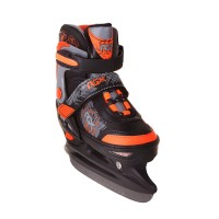 Коньки ледовые/раздвижные TECHNO orange