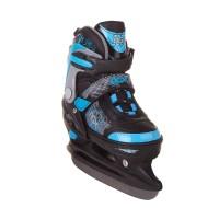 Коньки ледовые/раздвижные TECHNO blue