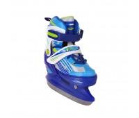 Коньки ледовые/раздвижные TRIAL blue