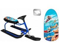 """Снегокат 204 """"Bike"""" Aqua"""