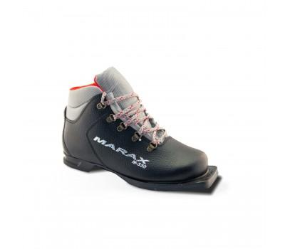 Ботинки лыжные M-330/75мм Кожа черные