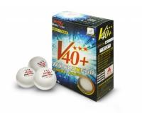 Шарики для для н/т DOUBLE FISH 40+ 3*, 6 мячей в упаковке, белые. Для профессионалов