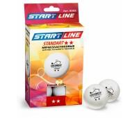 шарики для н/т STANDART 2*, 6 мячей в упаковке