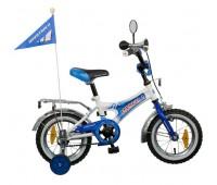 """Велосипед NOVATRACK 12"""" Формула,тормоз 1 руч. нож., крылья и багажник хром., гудок"""