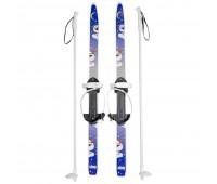 Лыжи детские Быстрики с палками (90см)