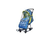 Санки-коляска детские Умка 3-1 + выдвижные колеса