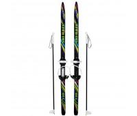 Лыжи детские Ski Race 130см/100см с палками крепление цикл