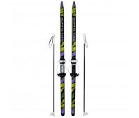 Лыжи детские Ski Race 150см/110см с палками крепление цикл
