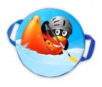 Ледянка мягкая круглая d40 см. Пингвин чемпион
