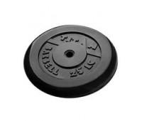 Диск д-26мм 25 кг обрез/черный