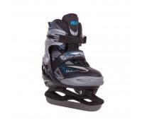 Коньки ледовые/раздвижные PW-800 black/blue