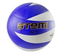 Мяч в/б ATEMI ACE, PVC, бел/син, 12 панелей