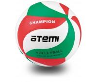 Мяч в/б ATEMI CHAMPION синт. кожа PU Soft,  зел/бел/красн