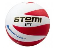 Мяч в/б ATEMI JET, PU Soft, бел/красн, 12 панелей