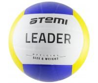 Мяч в/б ATEMI LEADER, PVC, 18 п., желт/гол/бел