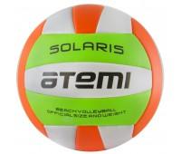 Мяч в/б ATEMI SOLARIS, PVC, foam, 18 п., салат/бел/оранж, м/ш