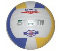 Мяч в/б ATEMI SPACE, синт. кожа PU Soft,  бел/желт/син