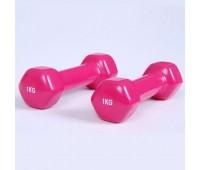 Гантели винил BF-DV01 (2шт*1,0 кг розовый)