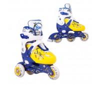 Коньки роликовые/раздвижные CASPER blue