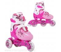 Коньки роликовые/раздвижные Casper/pink