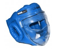 гп5-09 Шлем-маска для рукопашного боя синяя ПРО разм.S