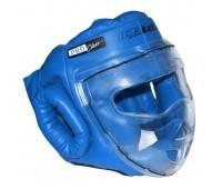 гп005217 Шлем-маска для рукопашного боя Леко синяя ПРО