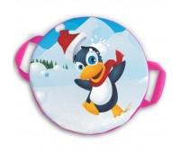 Ледянка мягкая круглая d35 см. Веселый пингвинчик