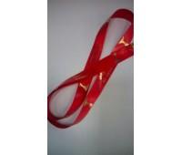 Лента для медалей красная с нанесением