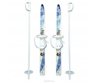Лыжи детские Лыжики с палками (75см)