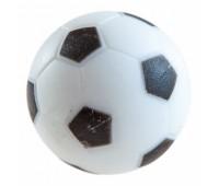 Мяч для футбола, текстурный пластик, D 36 мм (черно-белый)