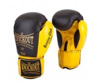 Перчатки бокс NBG-254 Dyex Black/Yellow