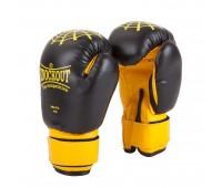 Перчатки бокс NBG-272 Dyex Black/Yellow
