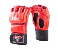 Перчатки ММА RBG-126 Буйволиная кожа Red