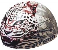 Шапочка д/плавания ATEMI, силикон, белая (леопард)/PSC425
