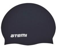 Шапочка д/плавания ATEMI, силикон (б/м), чёрная/RC303