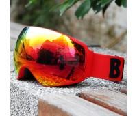 Очки горнолыжные/сноуборд/ RED/Be Nice