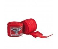 Бинт боксерский RME 3 м. (хлопок-лайкра) (красный)