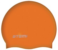 Шапочка д/плавания ATEMI, силикон, оранжевая/SC306
