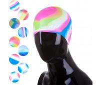 Шапочка плавательная  MCN многоцветная