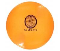 Мяч для худ. гимнастики (20см/400гр.) оранж. с блестками Т07574