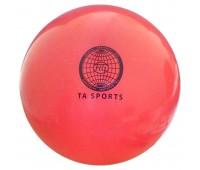 Мяч для худ. гимнастики (20см/400гр.) коралловый с блестками Т07574