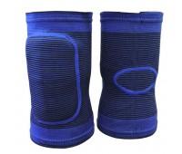 Налокотники волейбольные (с дыркой)  (синие) р.M-L T07644