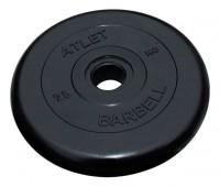 Диск д-26мм 2,50кг обрез/черный/Atlet MB