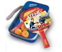 Набор для н/т Atemi STRIKE (2 ракетки+чехол+3 мяча)